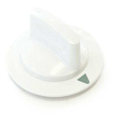 1 white dryer timer control knob fits