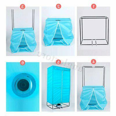 1000W Portable Electric Clothes Dryer Folding Rack Heat