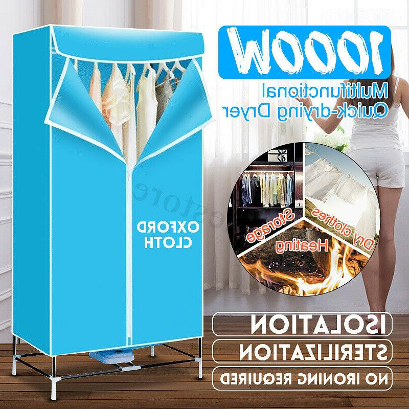 1000w portable electric clothes dryer folding wardrobe