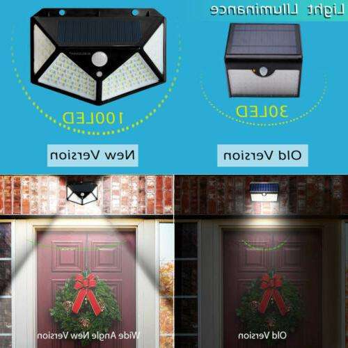 100 Light Outdoor Motion Sensor Yard Lamp