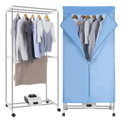 1000W Electric Clothes Dryer Rack Heat Machine +Remote