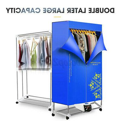 1500W Blue Electric Air Clothes Rack Drying