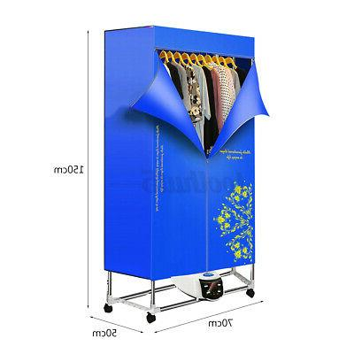 1500W Foldable Electric Clothing Dryer 110-240V Portable Drying Heater US
