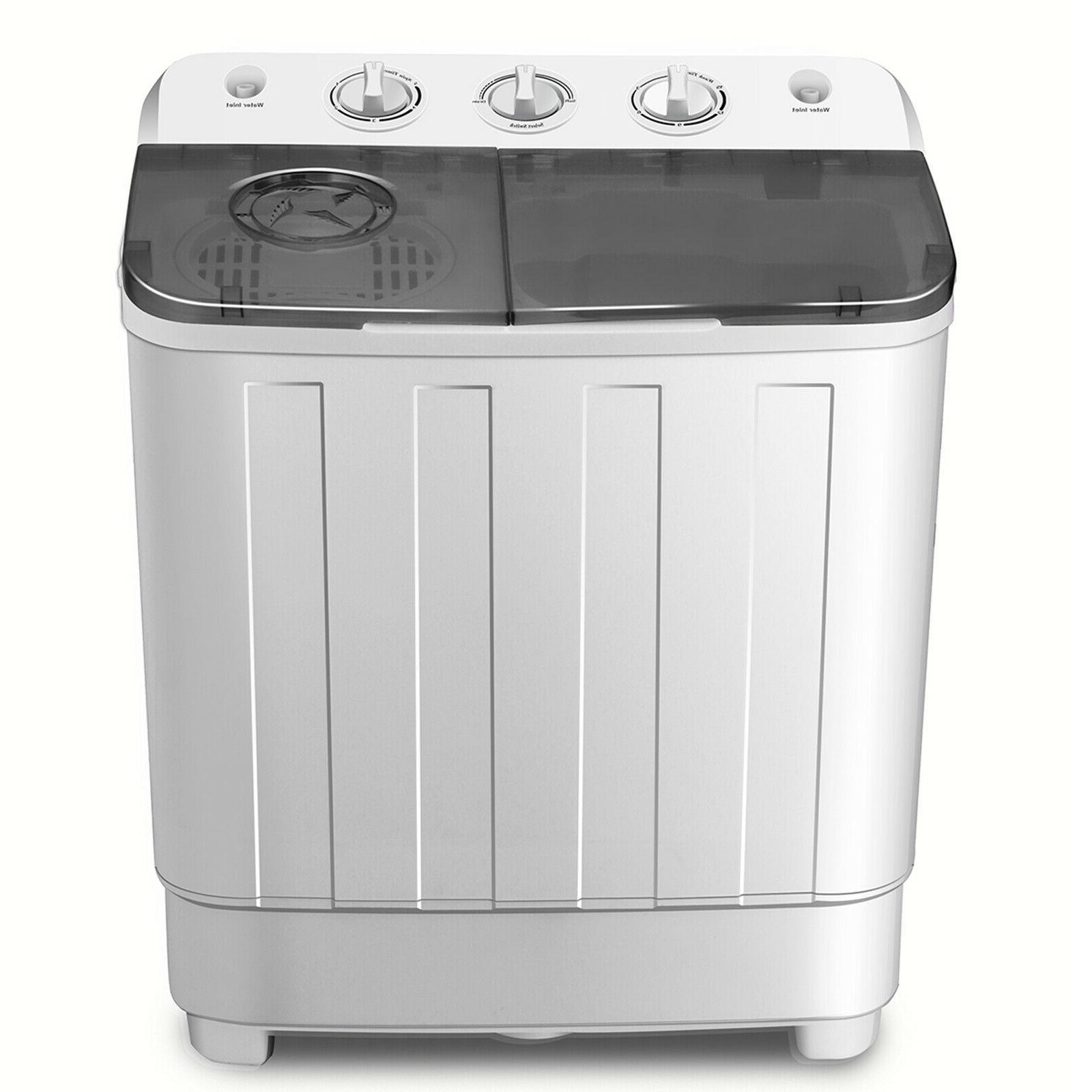 17LBS Top Machine Compact Washer Dryer Twin Tub