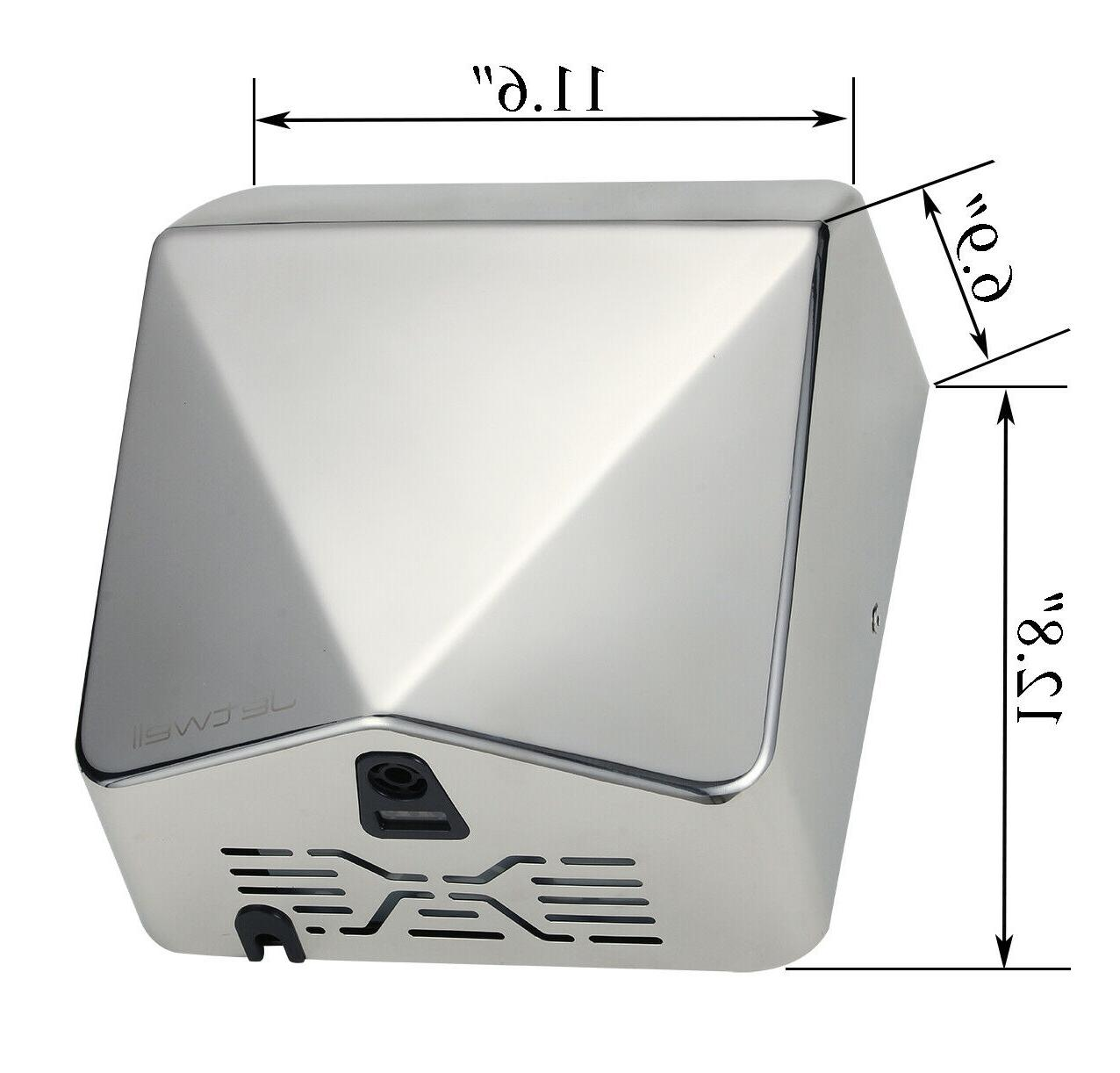 2 Pack JETWELL NEW High Speed Commercial Stainless Hand Dryer