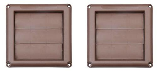 2 pack 4 brown plastic replacement louver