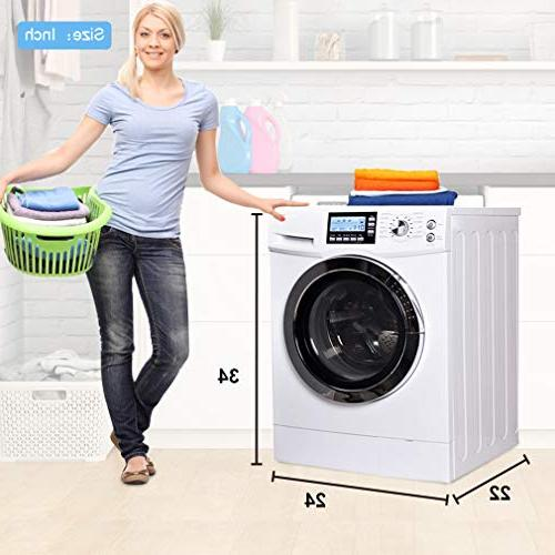 "24"" Washer/Dryer Laundry with ft. Capacity and Stainless Drum Auto System White"