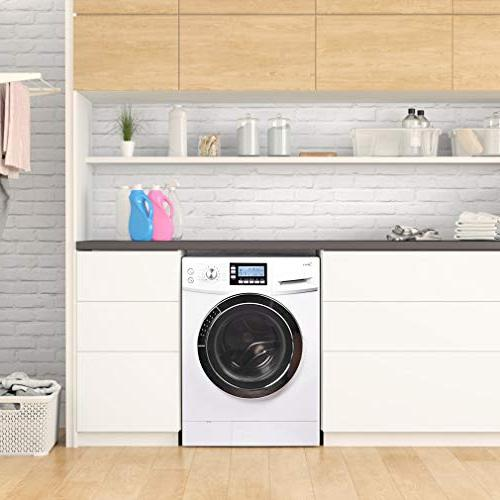 "24"" Washer/Dryer Laundry with ft. Capacity Electric Dryer and Washer Stainless Drum Auto Balance White"