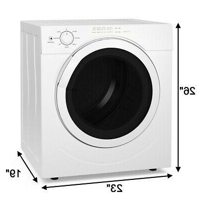 27lbs Tumble Laundry Dryer Stainless 3.21 Ft.