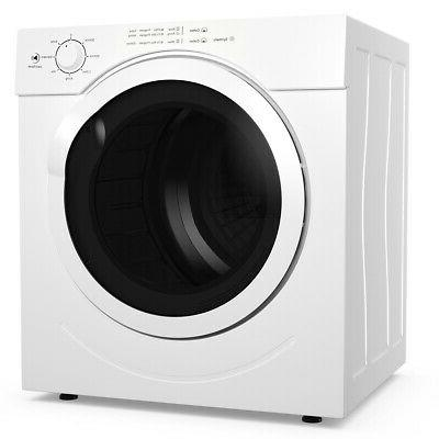 27lbs electric tumble compact laundry dryer stainless