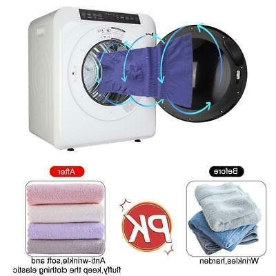 ZOKOP Electric Dryer 3.2Cu.Ft LCD Display Drying Machine