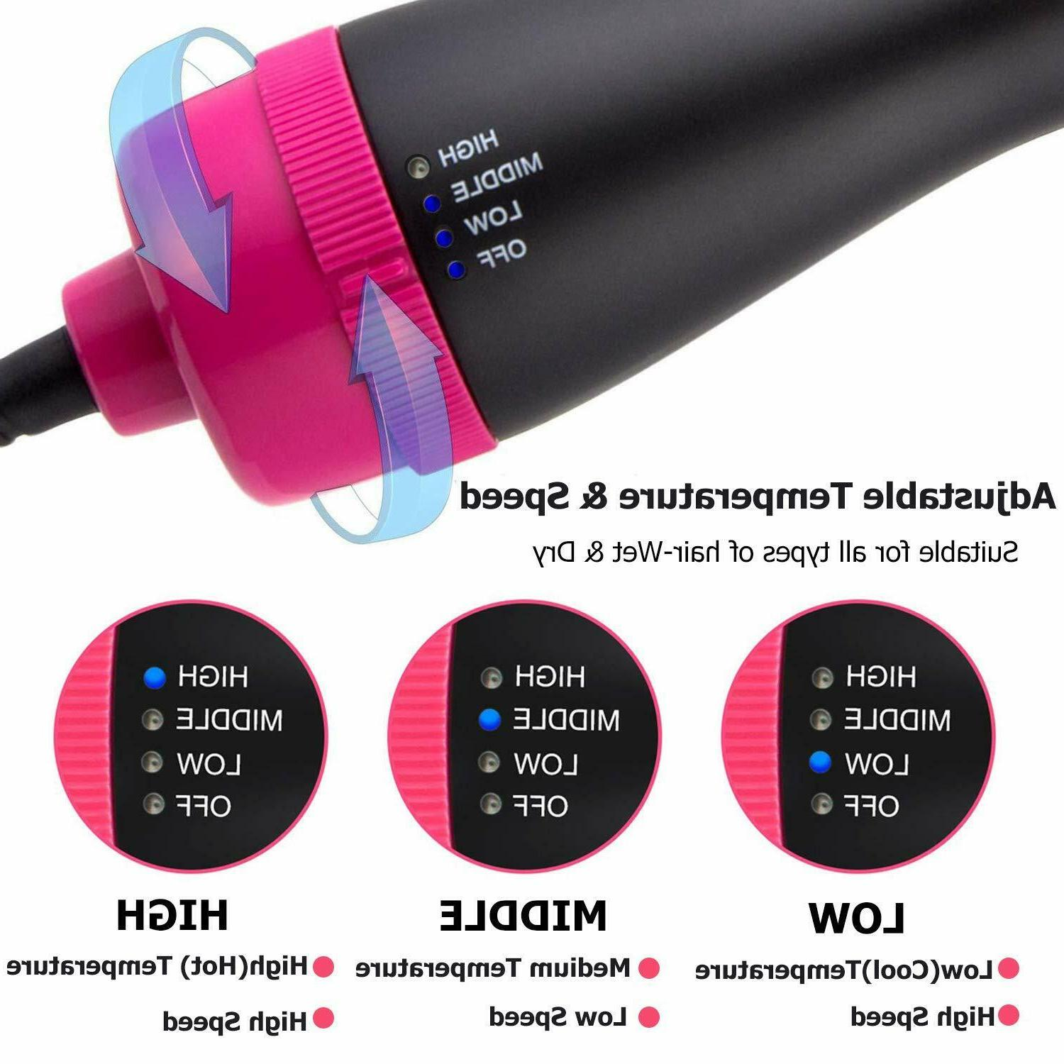 3in1 Blow Volumizer Straightener Infrared Hot