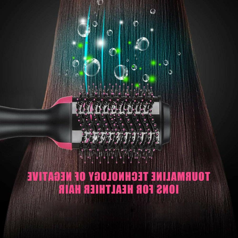 3in1 Blow Dryer Volumizer Straightener Comb Infrared Hot Air
