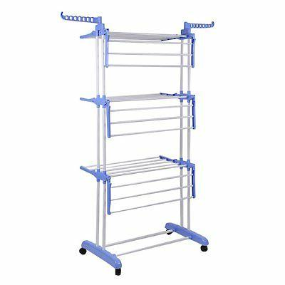 3 Tier Folding Airer Dryer In/Outdoor Drying Rail BP