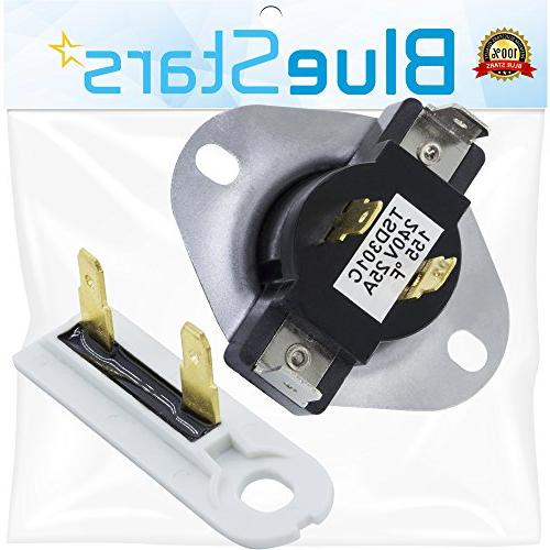 Cycling Thermostat & Fuse Blue fit for Whirlpool Kenmore Dryer