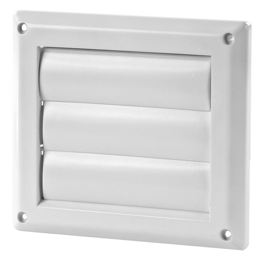 IMPERIAL 4-in Plastic Louvered Dryer Vent Cap Easy to Instal