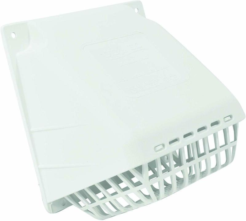 "DEFLECTO 4"" Replacement Dryer Vent Hood White Exhaust Fan Co"