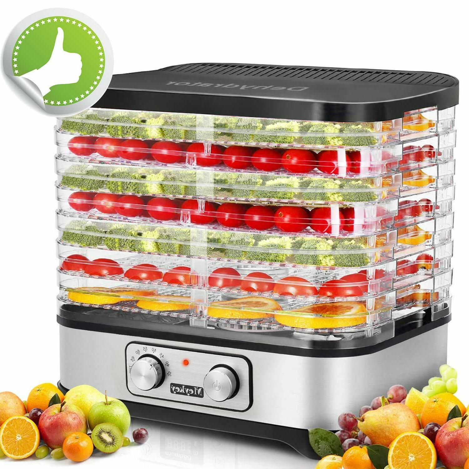 5/7 Stackable Trays Electric Food Dehydrator Machine Fruit D