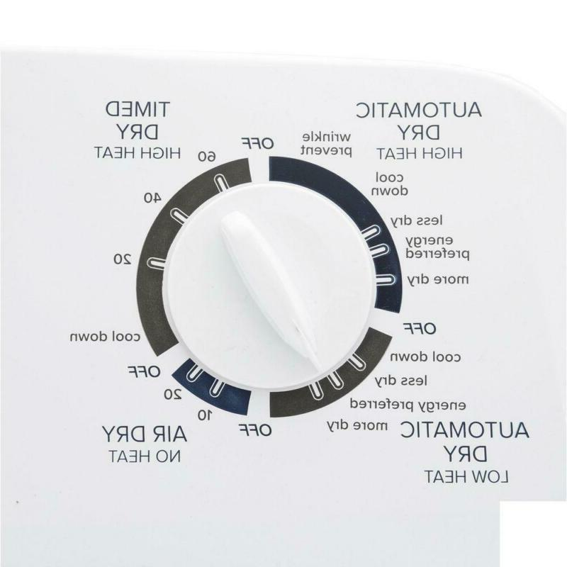 6.5 cu. 240-Volt White with Wrinkle Prevent Option