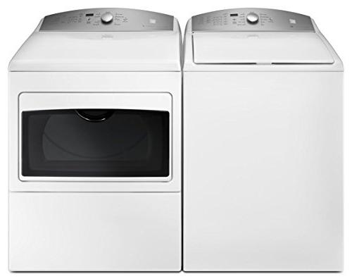 Kenmore 7.4 Glass Hamper Door in White -Work with includes and