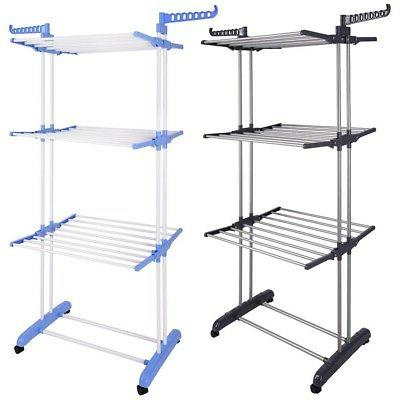 66 laundry clothes storage drying rack portable