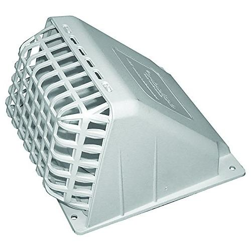 Deflecto Wide Mouth Dryer Vent Hood with Removable Bird Guard, Damper, Weather-Resistant, 4 Inches