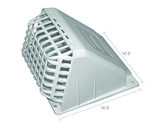 Deflecto Wide Mouth Dryer Vent Removable Bird Damper, 4 Inches