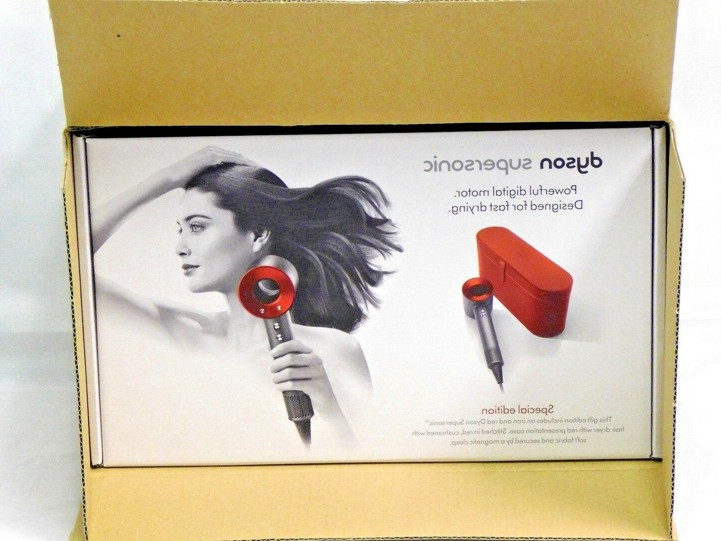Dyson Supersonic Hair Dryer - Special Edition Red with Case