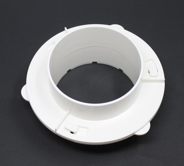 "WHITE DRYER DUCT WALL QUICK FOR VENT 4"" TUBE"
