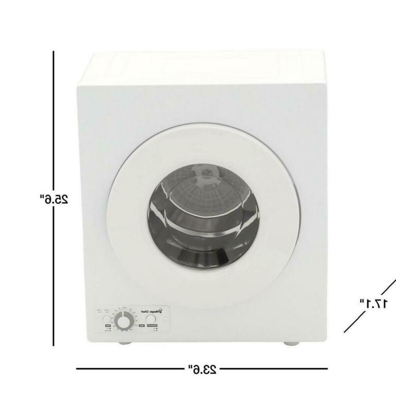 Compact 2.6 Electric Dryer White