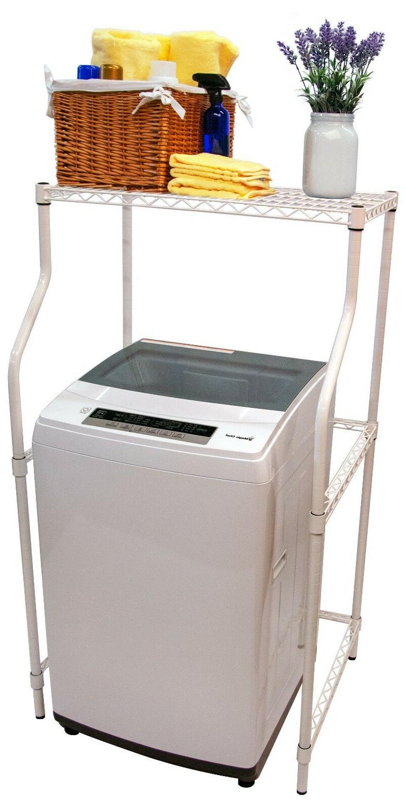 Compact Laundry Stand Portable Storage Dryer Washer Adjustab
