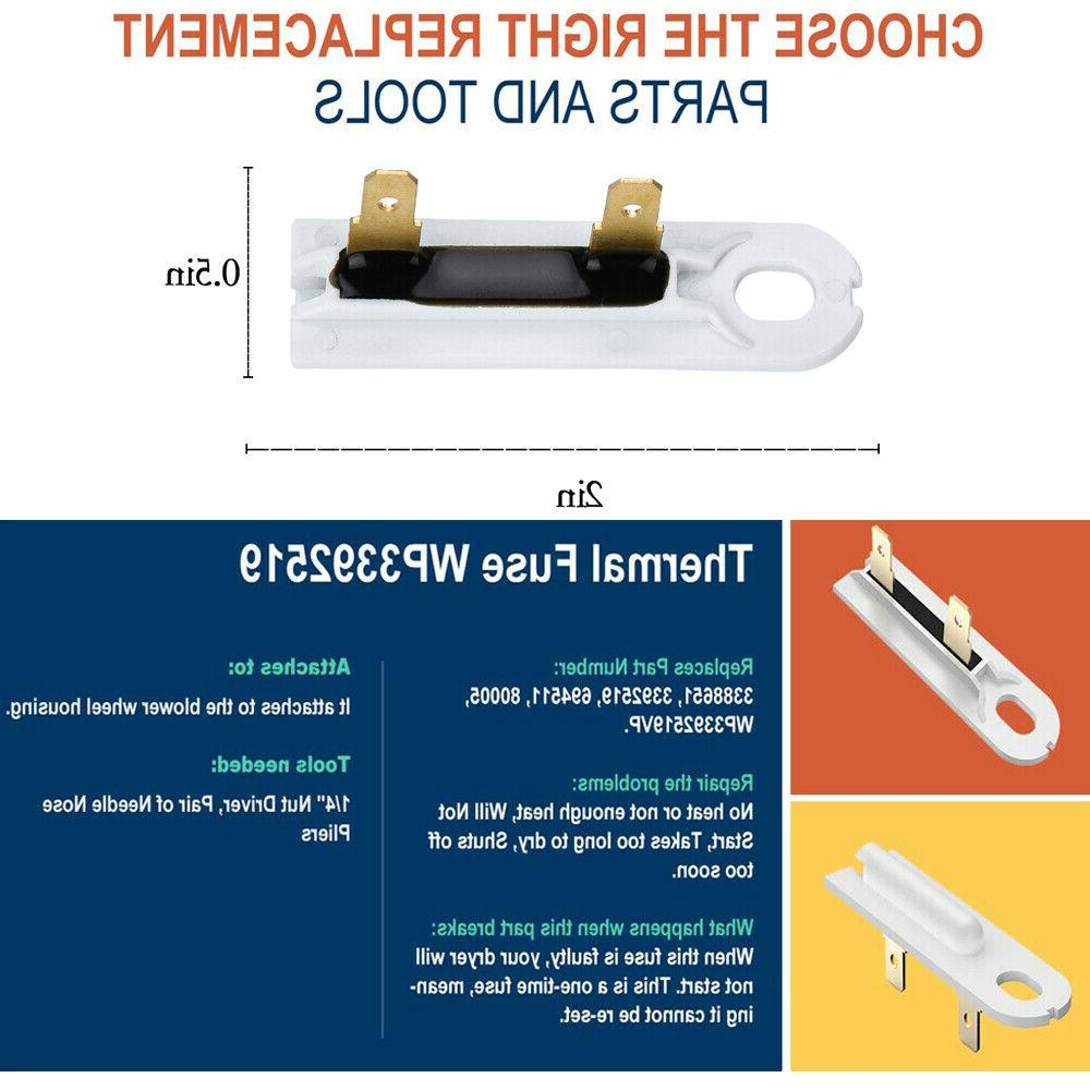 Dryer Cycling Thermostat Replaces WP3387134