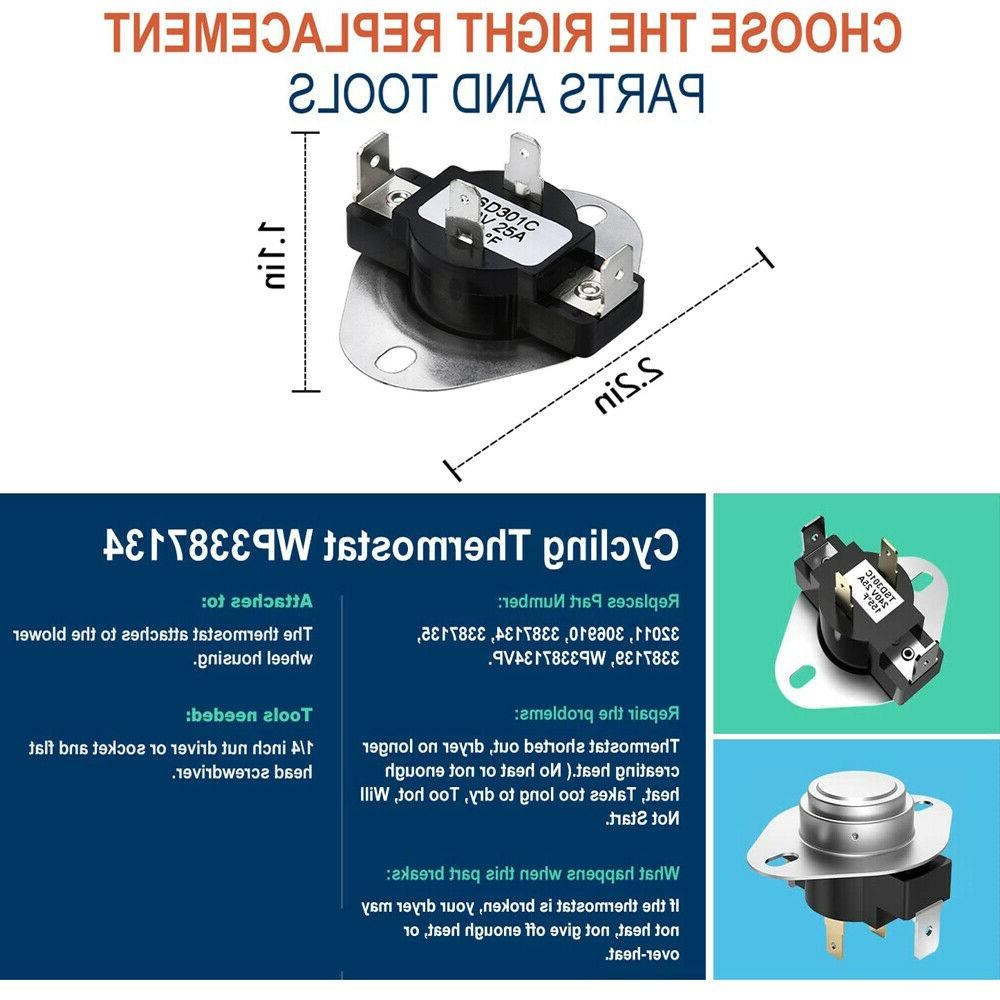 Dryer Cycling & Thermal for Whirlpool Replaces 3392519