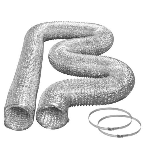 dryer vent hose kit with clamps foil