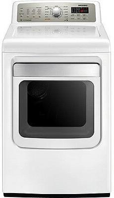"""Samsung DV484GTHAWR 27"""" 7.4 cu. ft. White Front Load Gas Dry"""