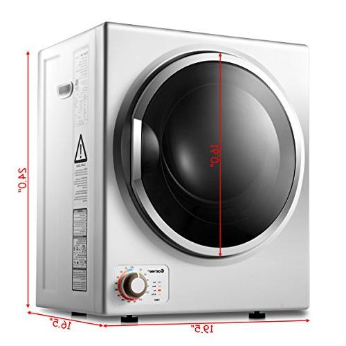 Costway Compact Stainless Laundry Dryer