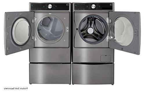 Kenmore cu. Smart Dryer with in Metallic -Works with Alexa, and hookup