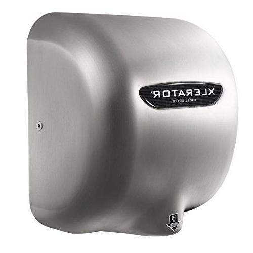 Excel Dryer 1.1N Dryer, Brushed Stainless Cover, No Heat, GreenSpec Listed LEED with 500