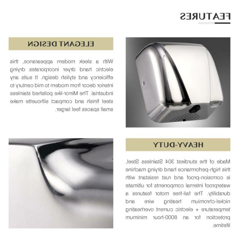 1800W Automatic Electric Hand Dryer