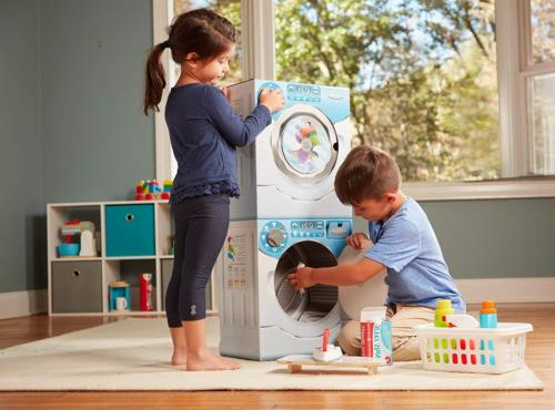 Melissa Washer/Dryer Combo Cardboard Play Multicolor