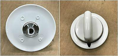 metal piece white knob for general electric