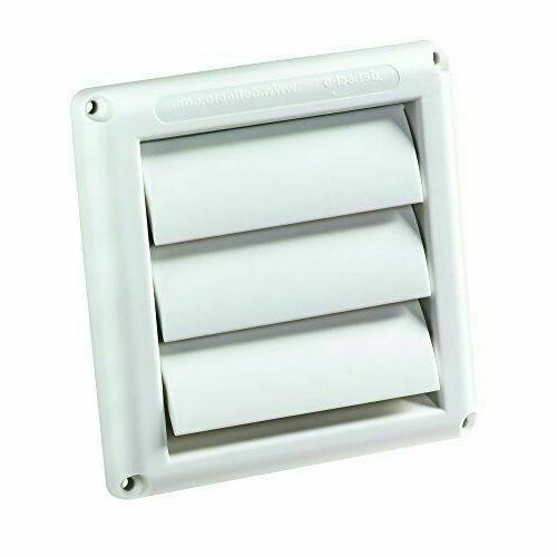 Deflecto Supurr-Vent Louvered Outdoor Dryer Vent Cover, Whit