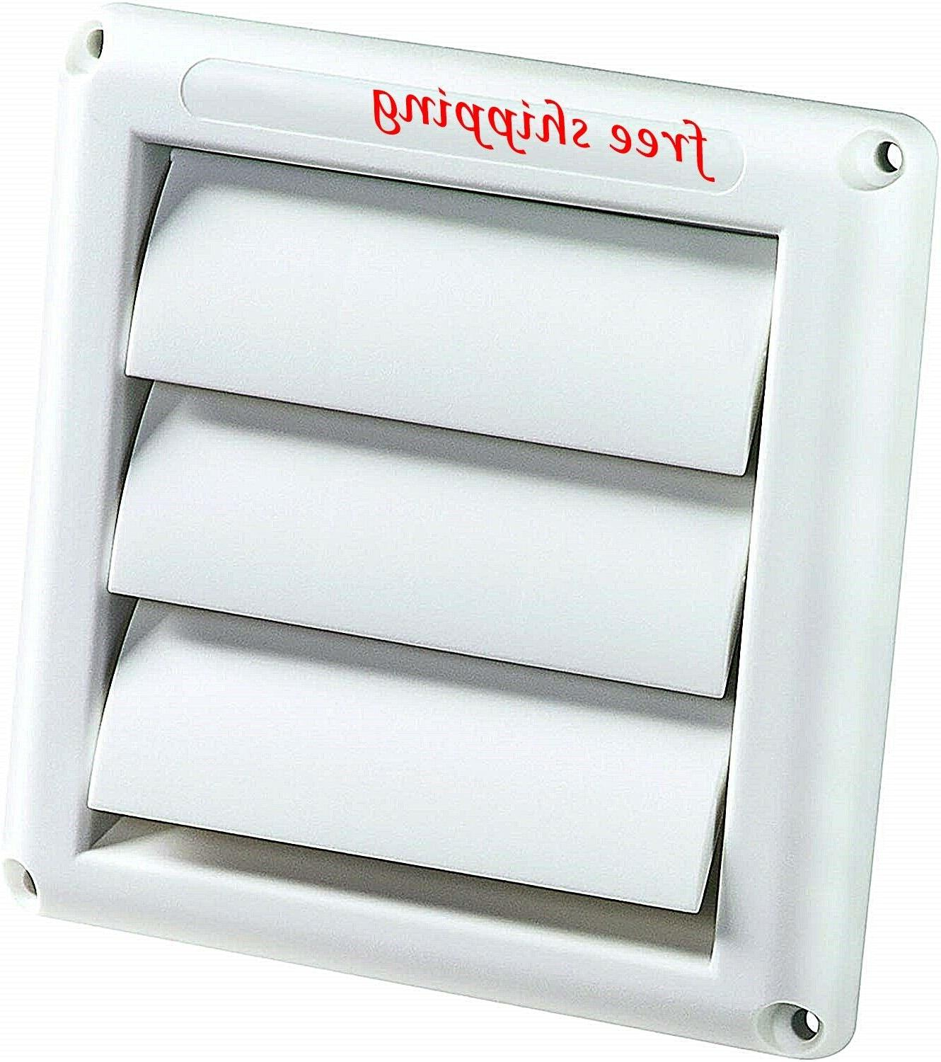 """Outdoor Dryer Vent Cover Exhaust Air Duct Ventilation 4"""" Hoo"""