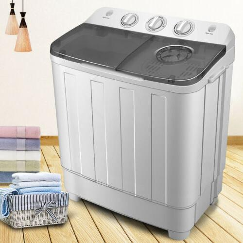 Portable 17lbs Machine Tub Load Compact Washer