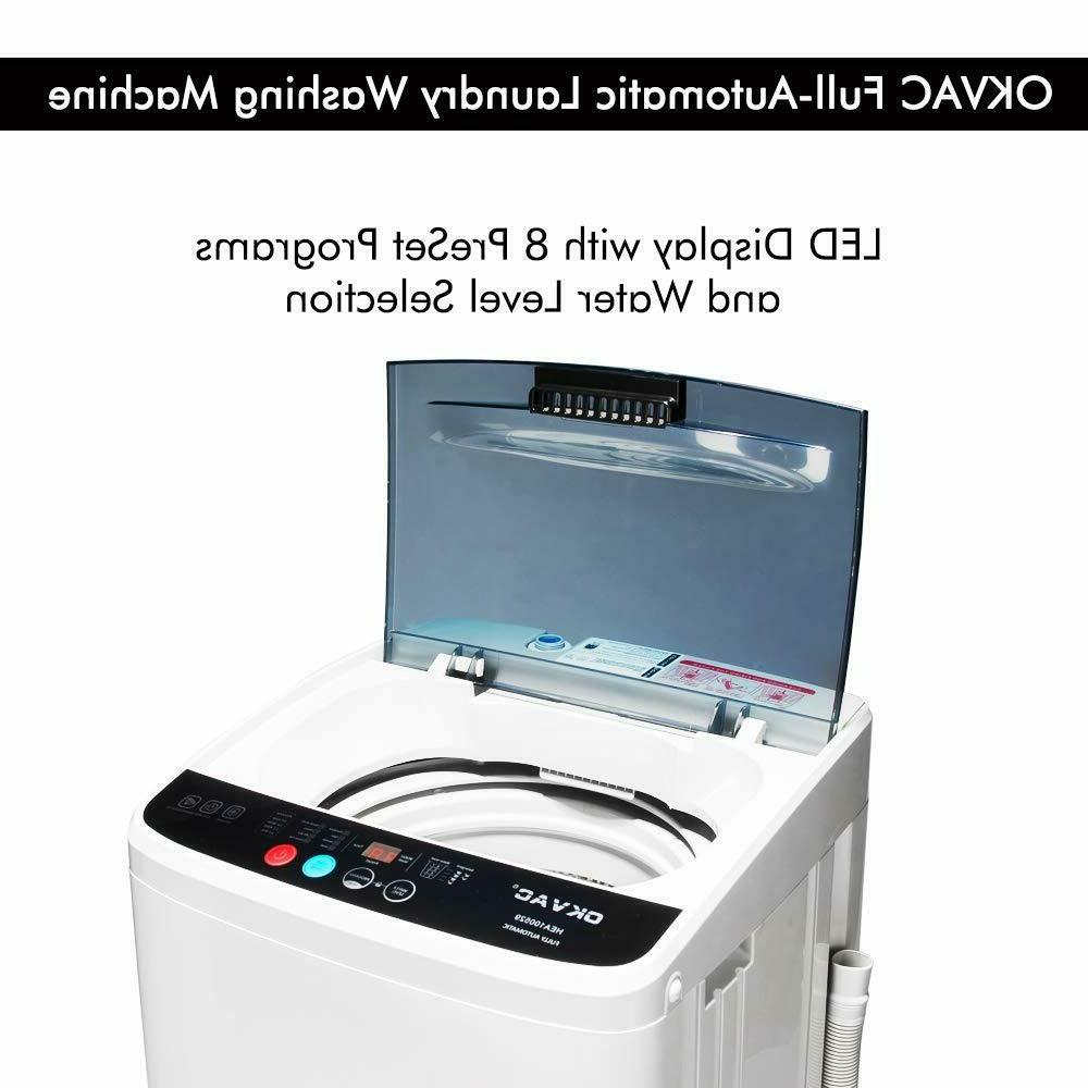 Portable Compact Full-Automatic Machine Spin Laundry White