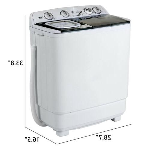21LBS Mini Semi-Automatic Compact Washing Washer Spiner Laundry