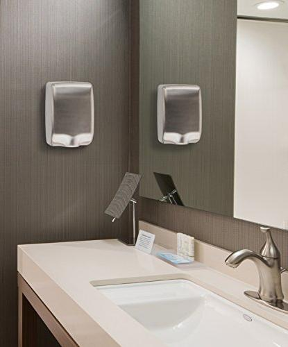 High-Speed Automatic Electric Dryers for Powerful restrooms, Stainless Compact Heavy Easy Installation