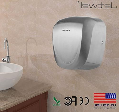 JETWELL (2 Pack Speed Commercial Hand Dryer-Heavy Duty Steel-Warm Hand