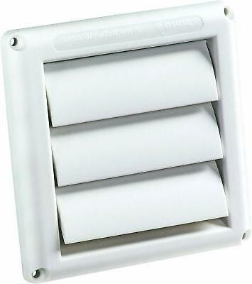 Supurr-Vent Louvered Outdoor Dryer Cover 4' Hood White Water
