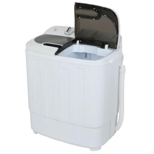Portable Mini Wash Machine Compact Twin Tub 13lbs Top Load W
